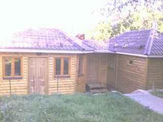Баня и дом из бруса