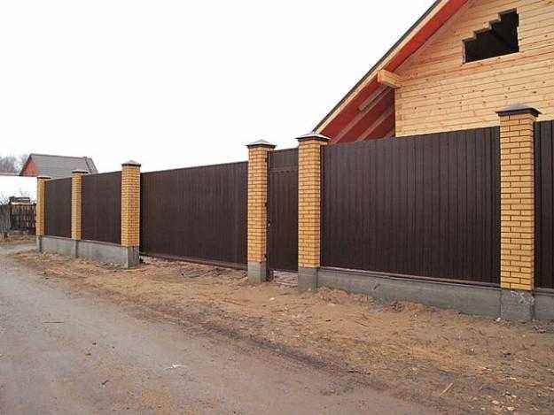 Забор из профлиста в Воронеже