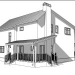 Эскиз двухэтажного дома