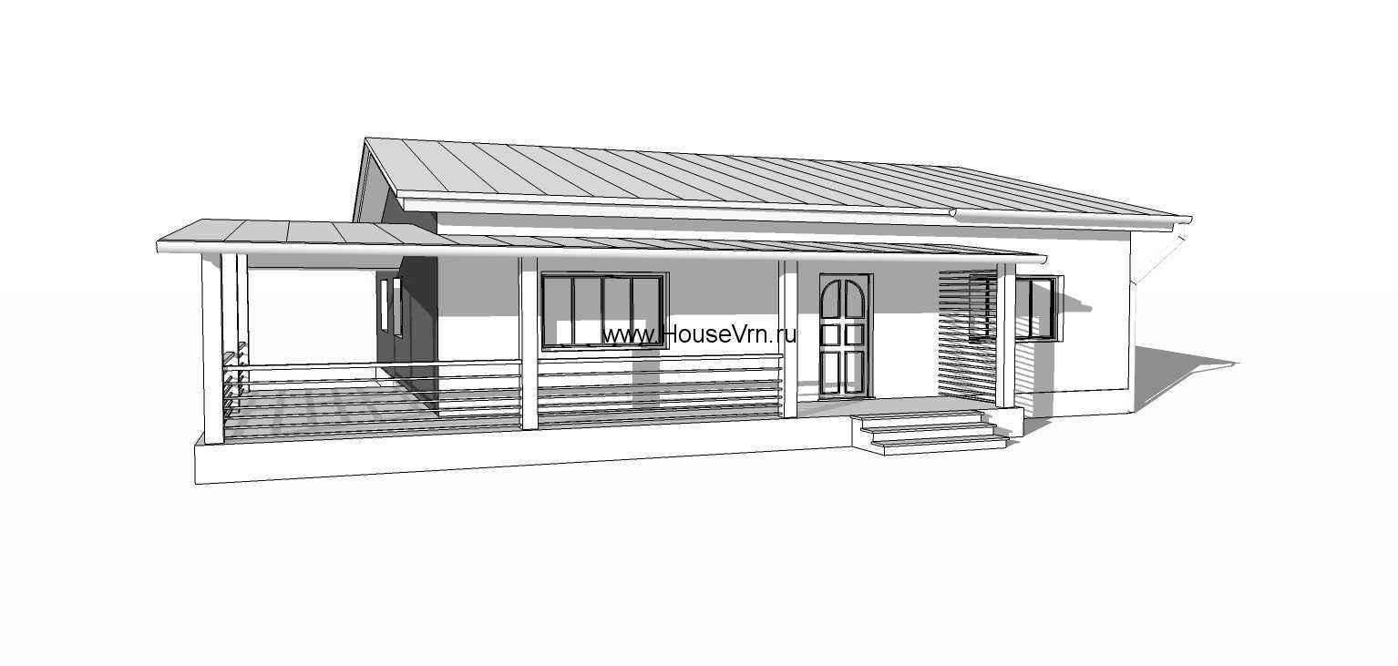 Эскиз одноэтажного дома