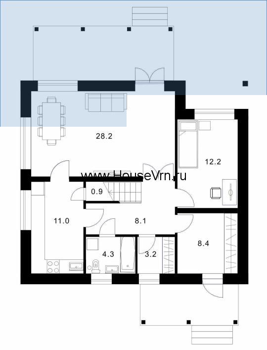 Планировка этажа номер 1
