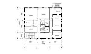 Планировка 2 и 3-го этажа офиса