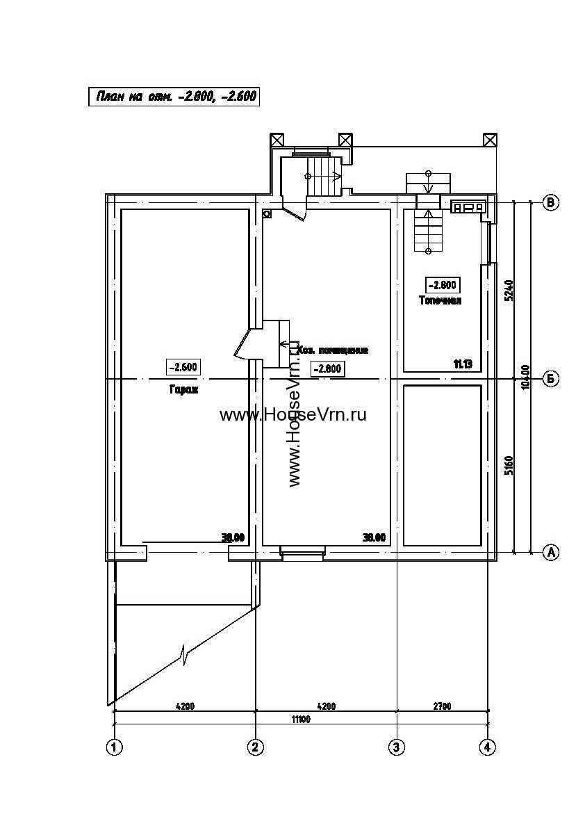 Планировка подвального помещения