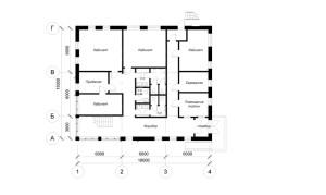 Планировка первого этажа офиса