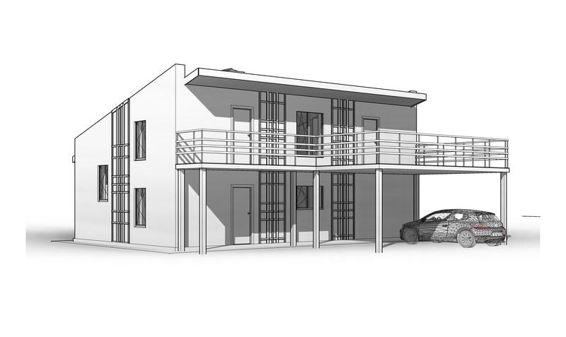 Передний фасад дома